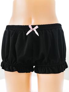 Lolita preto Bloomers Harajuku Kawaii Folho de elástico arco Lolita doce calças