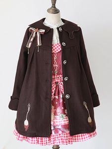 Chaquetas de Lolita de mezclada de lana marrón