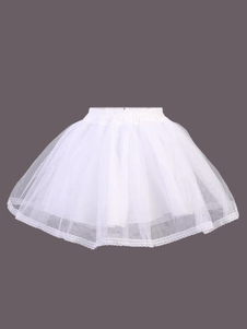 Enaguas de Lolita Lolita blanco falda SK red Flare en niveles