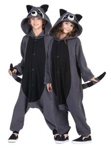 Disfraz Carnaval Pijama Kigurumi Racoon Onesie Snuggie Gris Flannel Animal 2020 Pijama para Adultos Halloween Carnaval