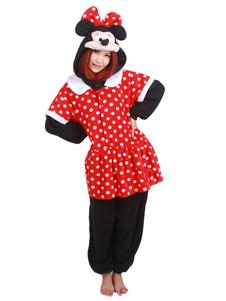 Disfraz Carnaval Kigurumi pijama Mickey Mouse rojo mono franela ropa de dormir para adultos Halloween Carnaval