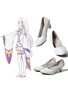 Re: нулевой, начиная жизнь в другом мире Эмилия косплей обувь Хэллоуин