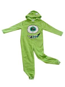 Disfraz Carnaval Pijama Kigurumi Monsters University Mike Traje de franela verde Halloween Carnaval