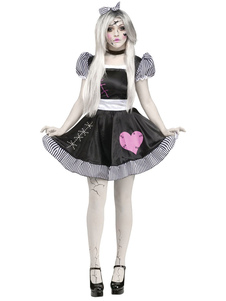 Disfraz Carnaval Vestido negro traje de Halloween cadáver novia traje femenino Halloween Carnaval
