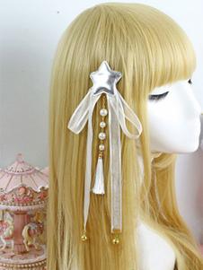 Lolita Copricapo dolce di seta con stampa di stelle