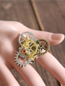 Steampunk Lolita anelli anelli di bronzo metallizzato Lolita