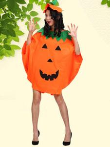 Fantasia 2020 De Abóbora De Halloween Capa Laranja Com Chapéu Halloween