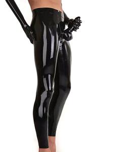 Мужской сексуальный костюм черный блестящий металлический тощий гей костюм Хэллоуин