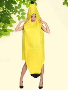 Traje 2020 De Banana De Comida De Halloween Cabo Amarelo Com Chapéu Halloween