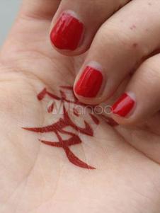 Tatuagem temporária impermeável de Gaara de Naruto Halloween