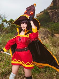 KonoSuba Megumin Konosuba de traje Cosplay: A bênção de Deus sobre este mundo maravilhoso! Traje cosplay Halloween