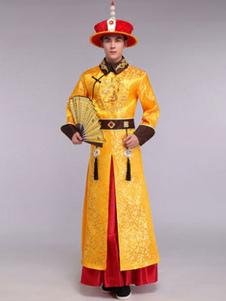 Мужчины древний китайский император Хеллоуин костюм традиционное платье наряд