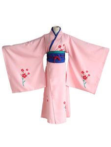Disfraz Carnaval de Gintama de saténcon kimono&Faja elástica&Faja Halloween Carnaval