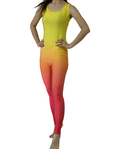 Спандекс Зентаи Омбре Lycra костюм купальник для женщин Хэллоуин