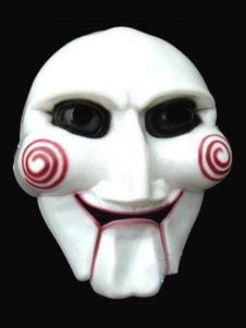 Disfraz Carnaval Máscara Látex blanca estilo unisex Saw para Mardi Gras para adultos Halloween Carnaval