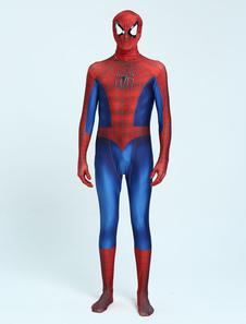 Хэллоуин-паук Zentai Lycra Spandex Catsuit Полный костюм для косплея Хэллоуин