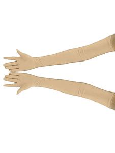 Costume Carnevale Accessorio fibra di poliestere guanti tinta unito unisex per adulti