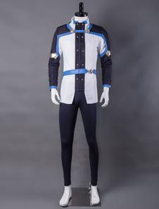 Carnaval Disfraz de Sword Art Onlineazul con abrigo&con guantes&Faja elástica&con Top&con pantalones Halloween