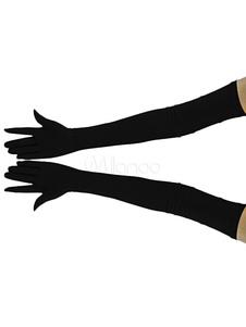 قفازات ليكرا دنة الأسود بسط هالوين زينة حلي هالوين