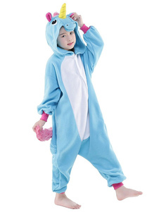 Disfraz Carnaval Disfraz de Kigurumi Adulto Pijama Unicornio 2020 Estilo Unisex para Niños de Celeste Claro Halloween Carnaval