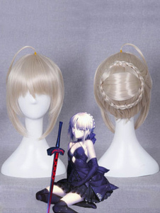Fate Type Moon Saber Cosplay Wig Хэллоуин