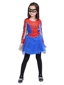 Costume Carnevale per Bambini Costume cosplay per bambini set rosso maschera abito Spiderman spandex Carnevale Natale per di poliestere Carnevale