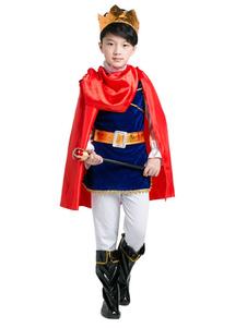 زي هالوين للأطفال بنين أحمر زي موحد في 7 قطع هالوين2020