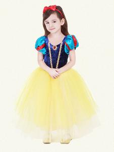 أطفال هالوين زي الفتيات الأزرق سنو وايت تول الكلاسيكية تو تو اللباس مع عباءة هالوين2020