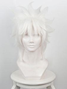 Carnevale Fate Parrucca cosplay resistente al Calore in Fibra bianca parrucca Anime Giapponese