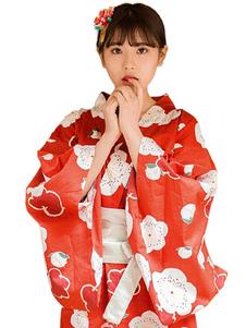 هالوين زي اليابانية زي الآسيوية كيمونو المرأة الحمراء الطويلة