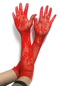 Хэллоуин Maid Gloves Red Lace Short Sexy Costume Accessories Хэллоуин