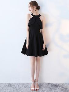 Маленькое черное платье Холодное плечо вырезает платья для выпускного вечера Платья для коктейлей