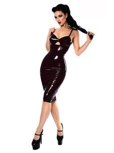 Costume Carnevale Catsuit per donno Carnevale set abito Cosplay per adulti nero di PVC