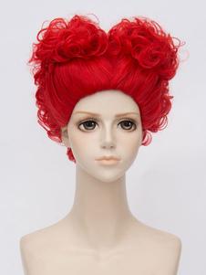 Carnevale Parrucca cosplay rossa film parrucca resistente al Calore in Fibra
