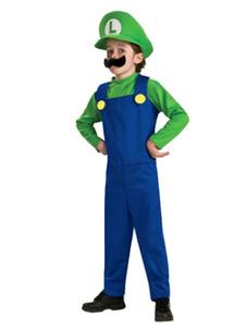 Luigi's Mansion 3 Хеллоуин костюм зеленый супер Марио Bros двухцветный комбинезон с шляпой и хлебом