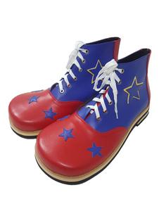 Carnaval Zapatos de cosplay de la impresión de la estrella del poliuretano del payaso del circo de Víspera de Todos los Santos