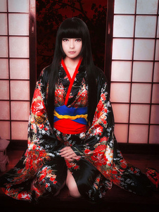 Hell Girl Enma Ai Halloween Cosplay Costume Kimono Version