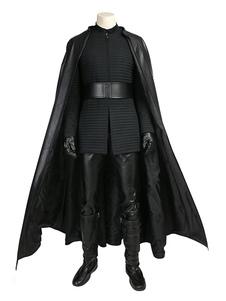 Guerra de Planetas Star Wars preta de cetim de algodão conjunto para homem