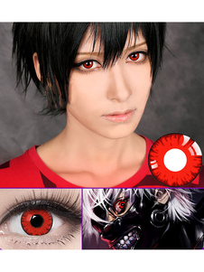 Anime Red Halloween Cosplay Lentes de contato