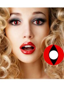 Anime Halloween Red Cat? S Eyes Cosplay Lentes de contato