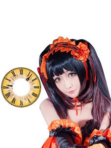 Carnevale Date A Live Tokisaki Kurumi Cosplay Lenti a contatto gialle 2020