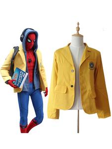 Carnaval Uniforme escolar Spiderman Homecoming Cosplay Jacket