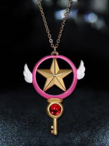 Карточка Captor Sakura Kinomoto Sakura Wand Bird Key Necklace