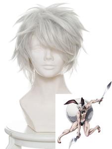 Carnevale Parrucca cosplay resistente al Calore in Fibra grigio argento parrucca Anime Giapponese