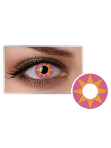 الوردي هندسي التجميل الملونة تأثيري حزب العين العدسات اللاصقة