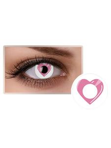 الوردي القلب الملونة مستحضرات التجميل حزب العين العدسات اللاصقة