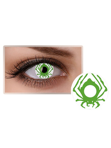 الأخضر العنكبوت العين العدسات اللاصقة الملونة حزب التجميل تأثيري ماكياج دائرة عدسة