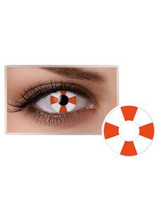 للجنسين الملونة العين العدسات اللاصقة تأثيري حزب أحمر أبيض دائرة عدسة