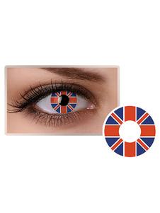 الإنجليزية العلم العين العدسات اللاصقة الملونة التجميل تأثيري حزب دائرة عدسة