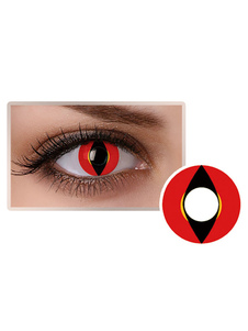 Lentes de contato com olhos coloridos Lama vermelha Unisex Party Cosplay Cosplay Makeup Circle Lens